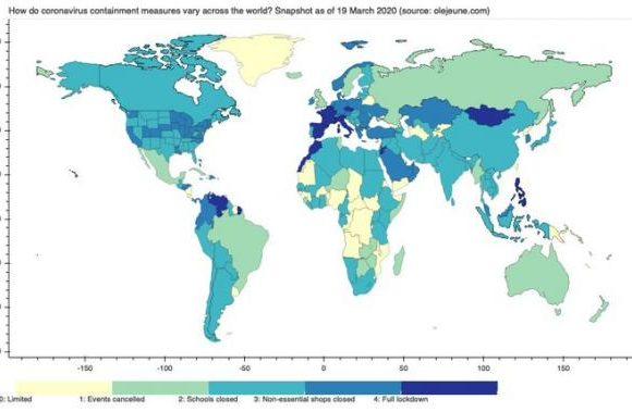 Κοροναϊός : Ο χάρτης με τα μέτρα των χωρών για την αντιμετώπιση της πανδημίας