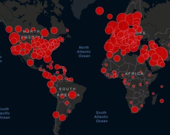 Παγκόσμιος χάρτης κορωνοϊού: Η θέση της Ελλάδας σε κρούσματα και θανάτους