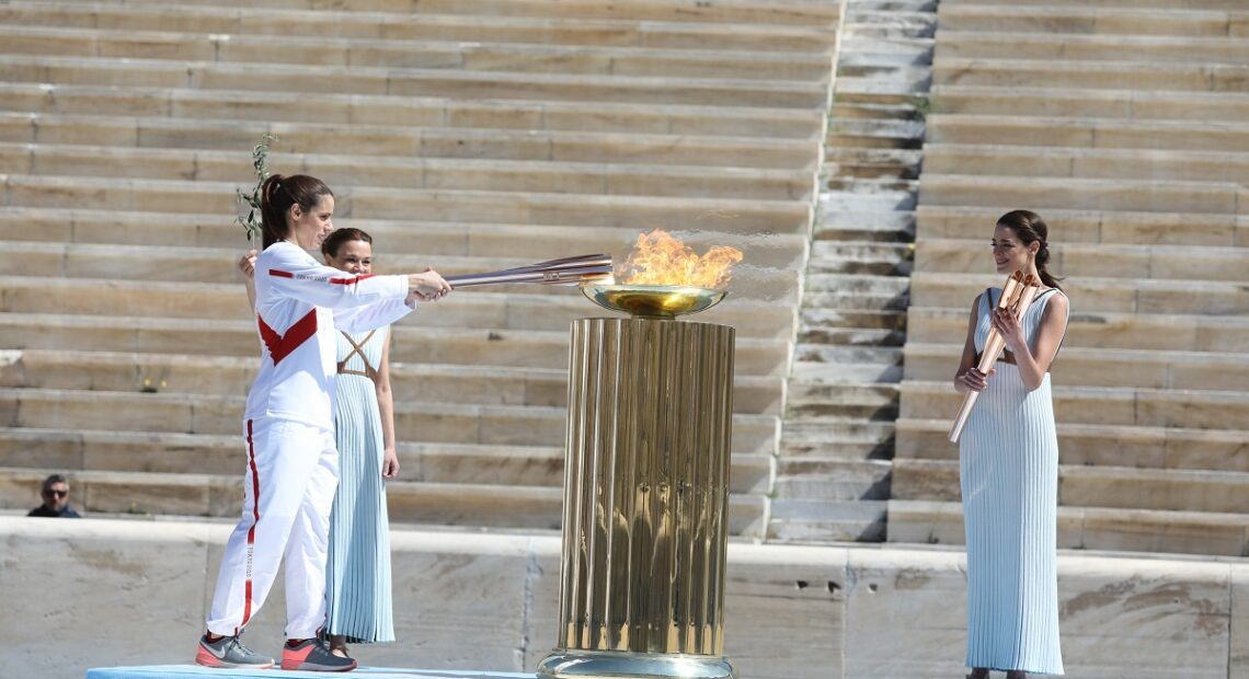 The Olympic Flame Goes from Athens to Tokyo