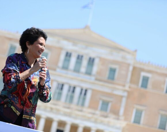Alkistis Protopsalti Spreads Optimism with Mobile Concert in Athens