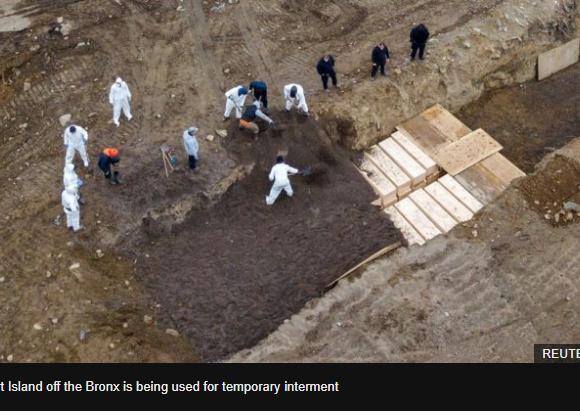 Κοροναϊός – Νέα Υόρκη : Ομαδικές ταφές σε τεράστιο λάκκο λόγω του μεγάλου αριθμού των νεκρών