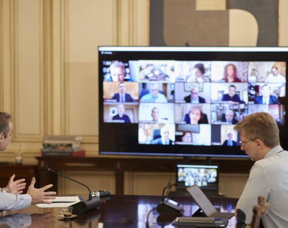 Κορωνοϊός: Τηλεδιάσκεψη του Κυριάκου Μητσοτάκη με στελέχη της ερευνητικής κοινότητας