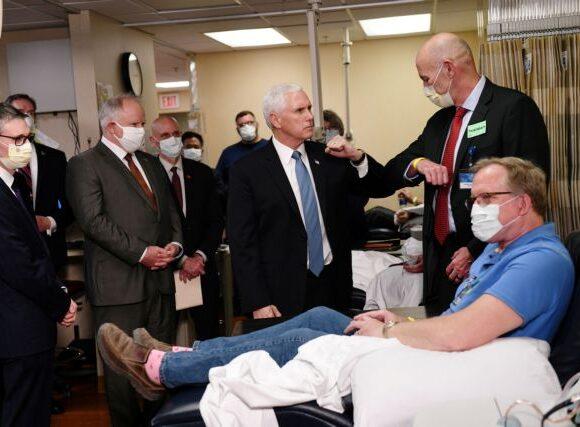 Ο Πενς πήγε σε νοσοκομείο και αρνήθηκε να βάλει μάσκα
