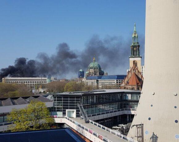 Πυρκαγιά στο ανάκτορο του Βερολίνου – Ενας τραυματίας