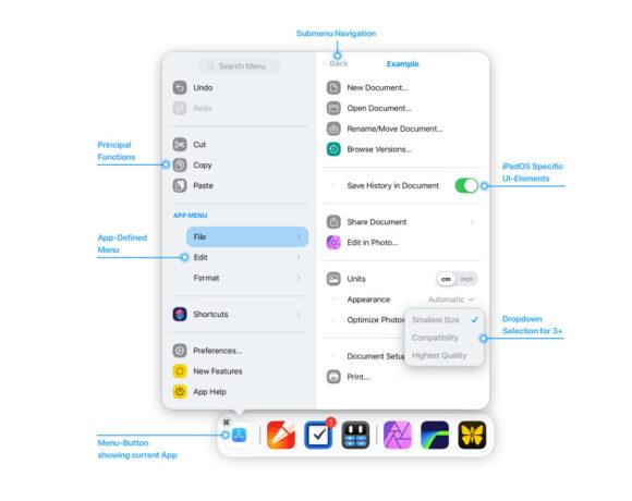 "iPadOS: Concept δείχνει ""Main Menu"" στις εφαρμογές"