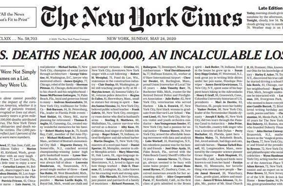 Μόσιαλος για πρωτοσέλιδο NYT: «Δεν είναι απλά νούμερα σε λίστα, ήταν οι άνθρωποι μας»