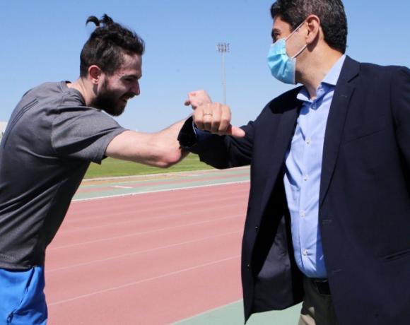 Συνάντηση Αυγενάκη- αθλητών στο ΟΑΚΑ