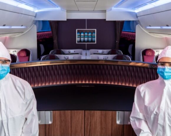 Qatar Airways' Cabin Crew Now Wear Full Body Suits During Flights