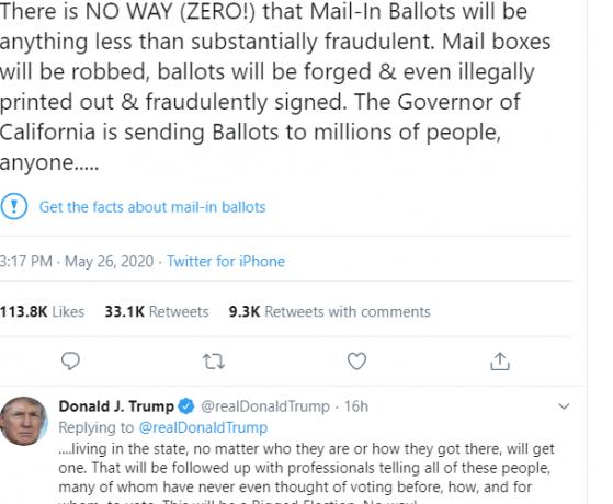 To Twitter «τσεκάρει» Τραμπ για παραπλανητικές ειδήσεις – Οργισμένη αντίδραση του προέδρου των ΗΠΑ