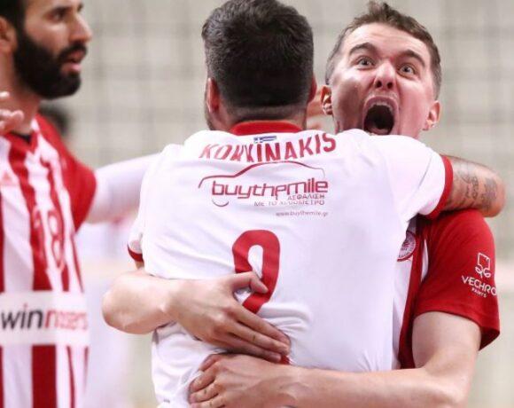 Βόλεϊ λιγκ: Στον τελικό ο Ολυμπιακός, 3-0 τον Φοίνικα