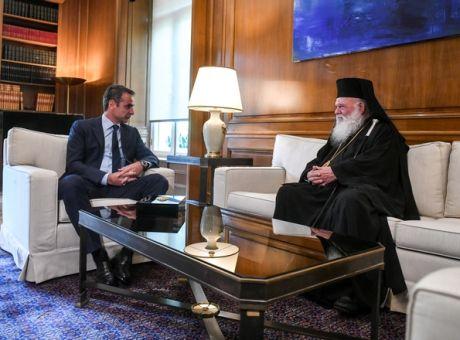 Επικοινωνία Μητσοτάκη με τον αρχιεπίσκοπο Ιερώνυμο για την Αγία Σοφία.