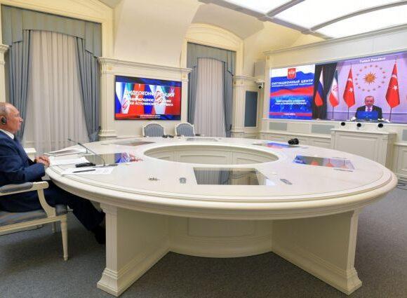 Τηλεδιάσκεψη Ερντογάν-Πούτιν-Ροχανί για τη Συρία