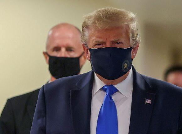 Τραμπ : Για πρώτη φορά φόρεσε μάσκα δημόσια
