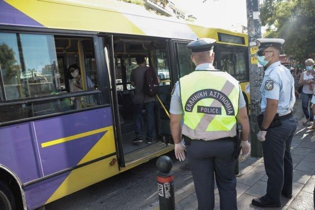 Έλεγχοι σε ΜΜΜ και πρόστιμα για μάσκες και υπεράριθμους επιβάτες