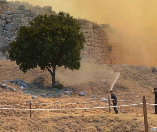 Greek Culture Minister Says Fire-hit Mycenae to Reopen Soon