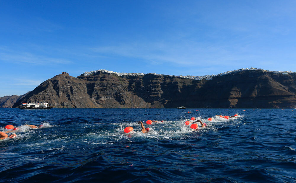Santorini Experience: Run, Swim and Enjoy the View!