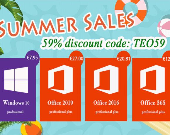 Summer Sales σε δημοφιλές λογισμικό για το PC σας με καλοκαιρινή έκπτωση