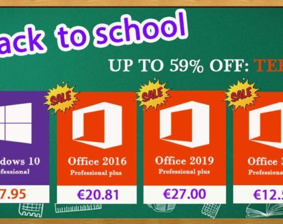 Προσφορές σε δημοφιλές λογισμικό Windows 10 Pro με €7.95 και Office 2016 Pro με €20