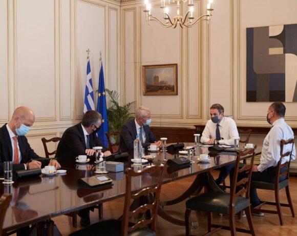 Συνάντηση Μητσοτάκη με διοίκηση Fraport για νέες επενδύσεις