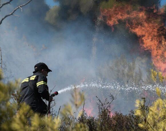 Φωτιά στα Καλύβια κοντά σε σπίτια – Εκκενώθηκαν οικισμοί