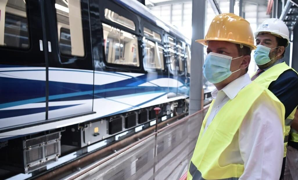 First-time Run for Thessaloniki Metro, Inspection of New Buses