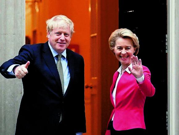 Brexit : Συμφωνία Τζόνσον – Ντερ Λάιεν για επιτάχυνση των διαπραγματεύσεων