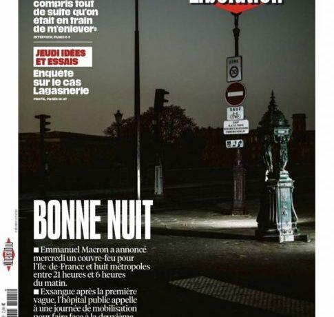 Καληνύχτα «Πόλη του φωτός» – Το συγκλονιστικό πρωτοσέλιδο της Liberation για την απαγόρευση κυκλοφορίας