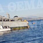 Πλοίο του ΠN συγκρούστηκε και έχει πάρει κλίση έξω από το λιμάνι του Πειραιά