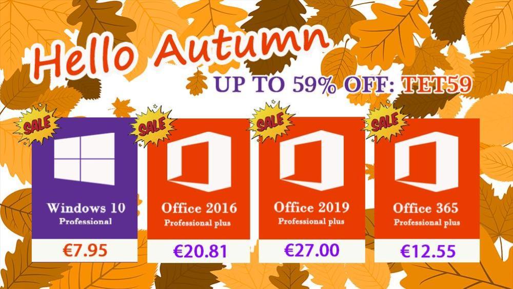 Προσφορές σε δημοφιλές λογισμικό Windows 10 Home με €7.73 και Office 2016 Pro Plus με €20