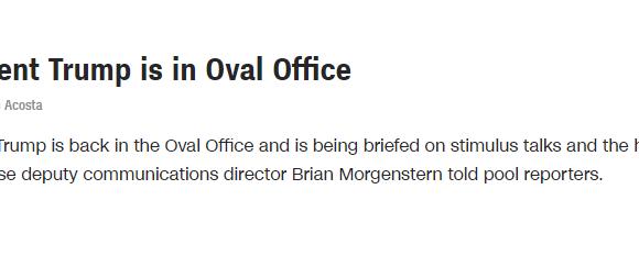 Τραμπ : Επέστρεψε στο Οβάλ Γραφείο έξι μέρες αφότου διαγνώστηκε με κοροναϊό