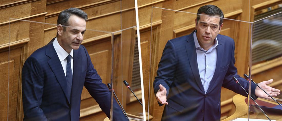 Ψηλά ο πήχης της κυβέρνησης για την αντιπαράθεση Μητσοτάκη -Τσίπρα στην Βουλή