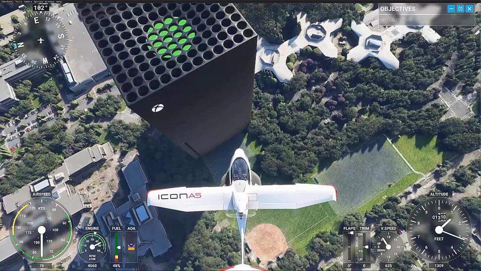 Flight Simulator: Παίκτης αντικατέστησε τα γραφεία της Microsoft με το Xbox Series X