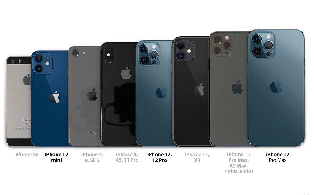 iPhone 12: Συγκριτικό μεγέθους με όλα τα παλαιότερα iPhone