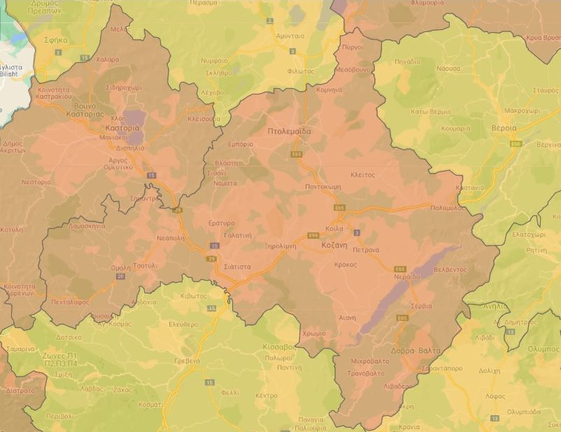 Kozani in Greece Rises to 'Red' Covid-19 Risk Level, Restrictions Announced