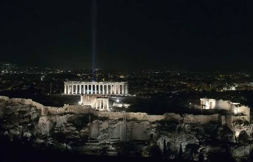 New Light Design Showcases Athens Acropolis