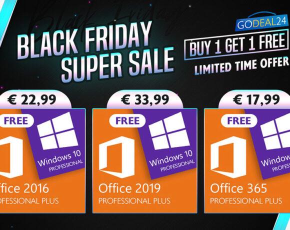 Black Friday Super Sale: Αποκτήστε τα Windows 10 δωρεάν με προσφορές 1+1