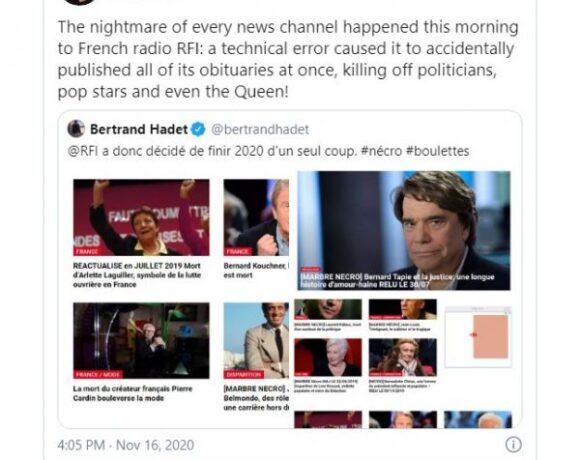 Διάσημοι: γαλλικός ιστότοπος δημοσίευσε εκατό νεκρολογίες ζωντανών
