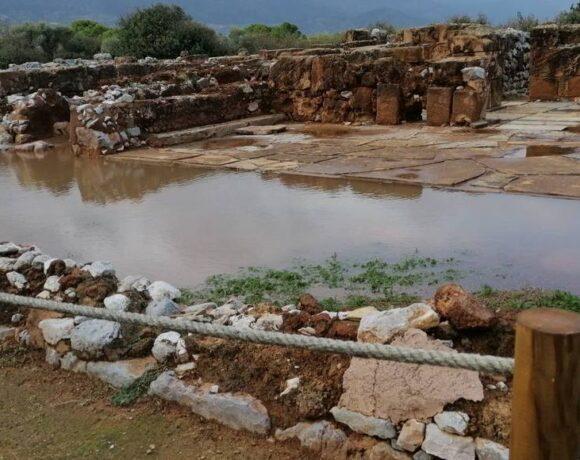 Πλημμύρισε ο αρχαιολογικός χώρος στα Μάλια
