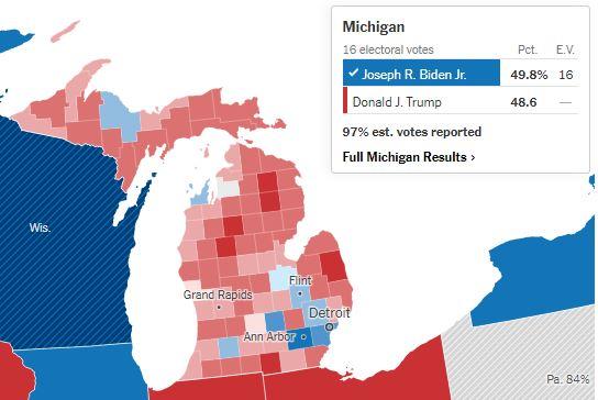 Προεδρικές Εκλογές ΗΠΑ: Νικητής ο Μπάιντεν και στο Μίσιγκαν