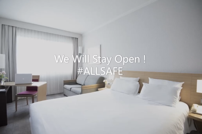 Novotel Athènes Stays Open with ALLSAFE Services