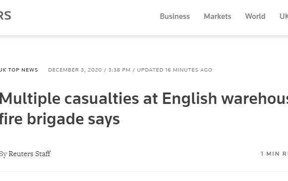 Μπρίστολ : Για «πολλά θύματα» κάνει λόγο η πυροσβεστική