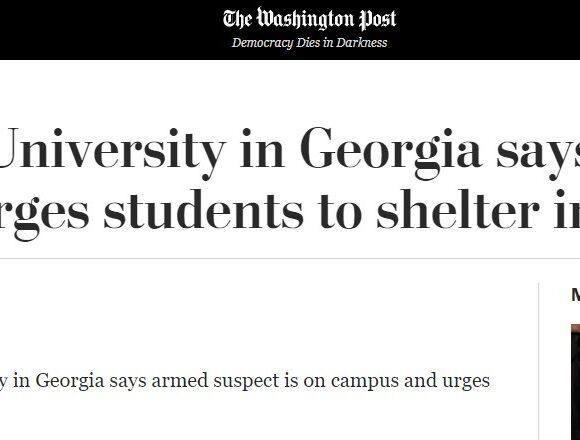Συναγερμός στη Τζόρτζια: Πληροφορίες για «εισβολή ενόπλου» σε πανεπιστήμιο