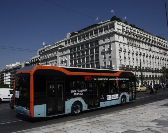 Το ηλεκτρικό λεωφορείο της BYD Πρωτοχρονιά στην Αθήνα