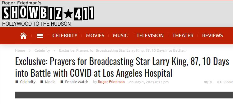 Λάρι Κινγκ : Στο νοσοκομείο με κοροναϊό ο θρυλικός δημοσιογράφος, σύμφωνα με δημοσιεύματα