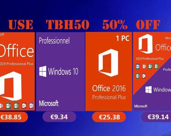 Μεγάλες εκπτώσεις σε Windows 10 pro με €9.34 και Office 2019 Pro με €38