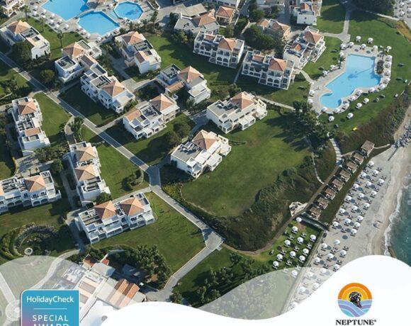Το Neptune Hotels διακρίθηκε με το HolidayCheck Special Award 2021 | 97% θετικές συστάσεις