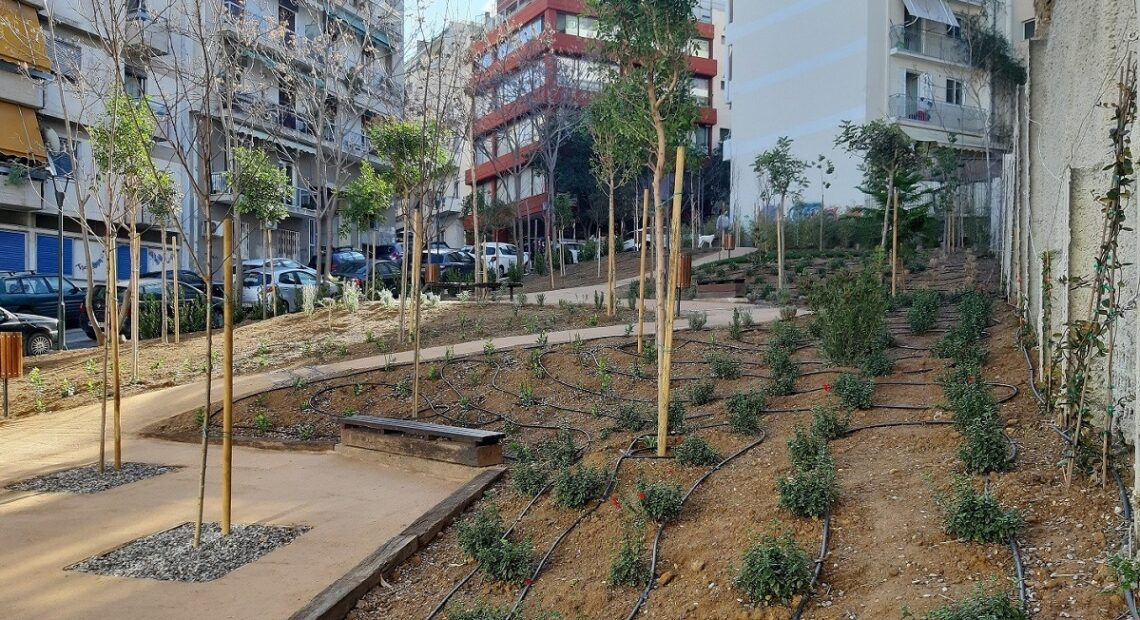 Athens: Central Pagrati Neighborhood Gets its Own 'Pocket Park'