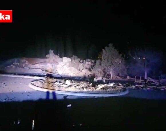 Ισχυρή έκρηξη ισοπέδωσε το ξενοδοχείο ΤΣΑΜΗΣ στην Καστοριά | VIDEO