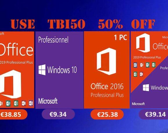 Προσφορές σε λογισμικό, Windows 10 Pro με €9.34 και Office 2019 Pro με €38