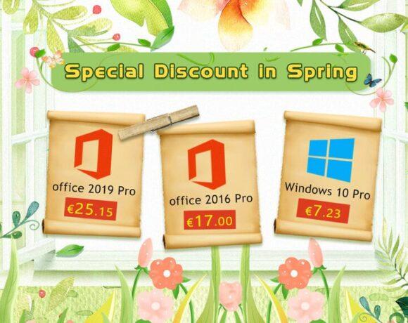 Ανοιξιάτικες προσφορές σε λογισμικό: Windows 10 Pro με €7